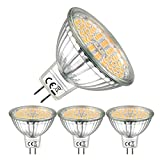 EACLL Bombillas LED GU5.3 2700K Blanco Cálido, Sin Parpadeo, MR16 12V 6W 595 Lúmenes Equivalente 75W...